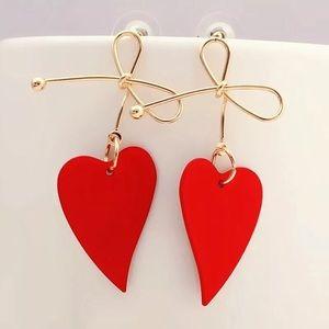New Women Heart Bowknot Geometric Earrings Dangle